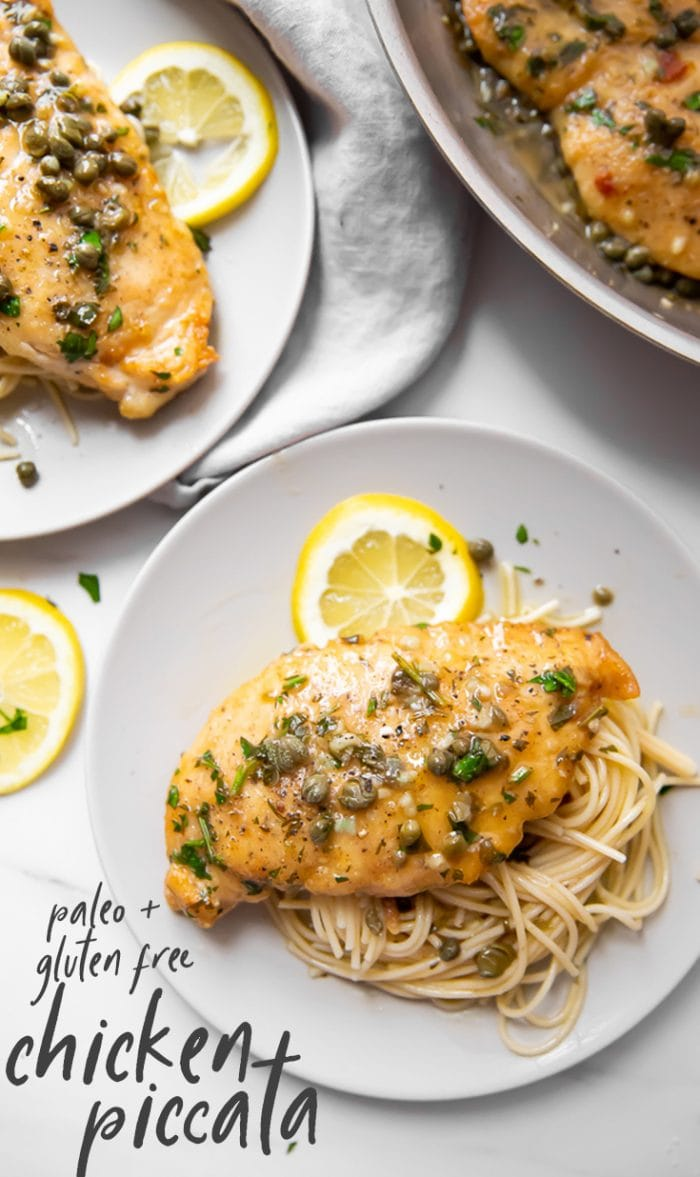Chicken Piccata (Paleo, Gluten Free) Pinterest graphic