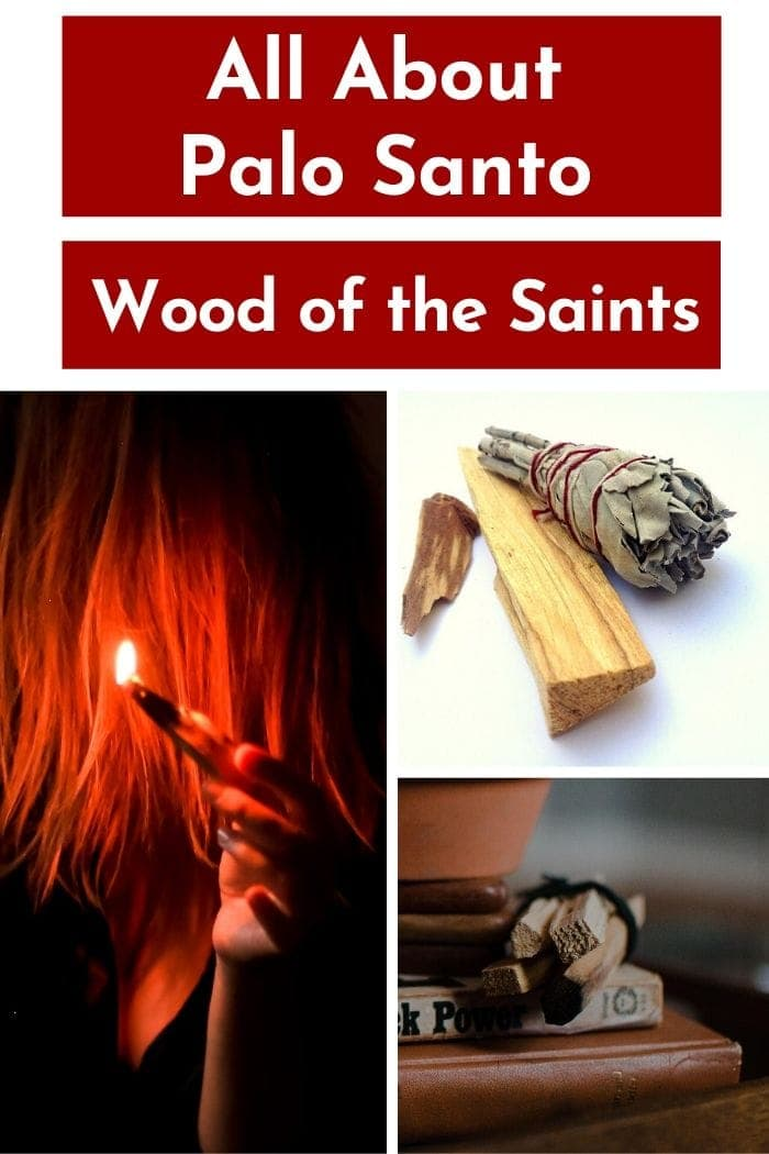 """a picture collage of paleo santo sticks with a text overlay saying """"all about palo santo"""""""