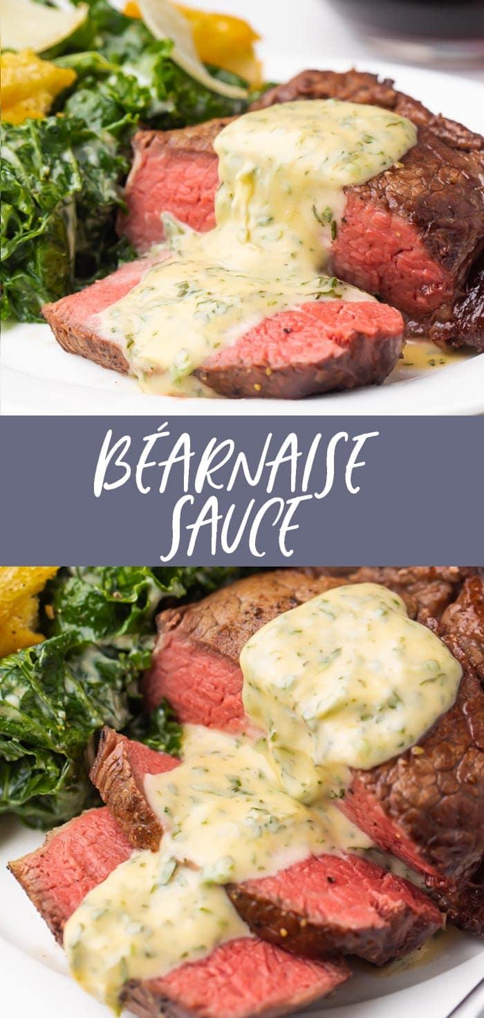 Bearnaise Sauce Recipe Pinterest graphic