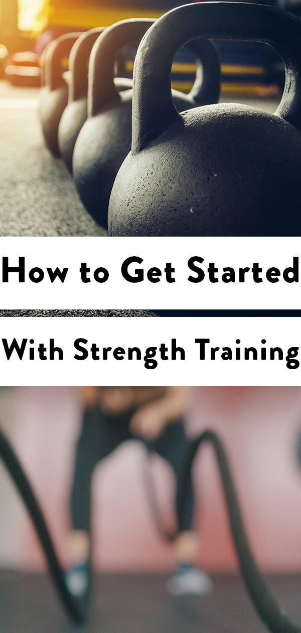 pinterest image of strength training graphic