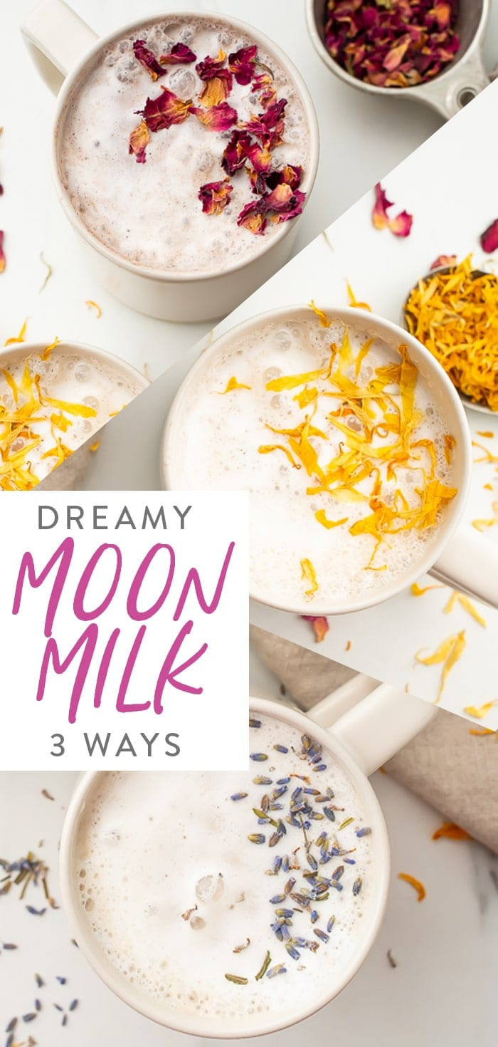 Moon milk three ways