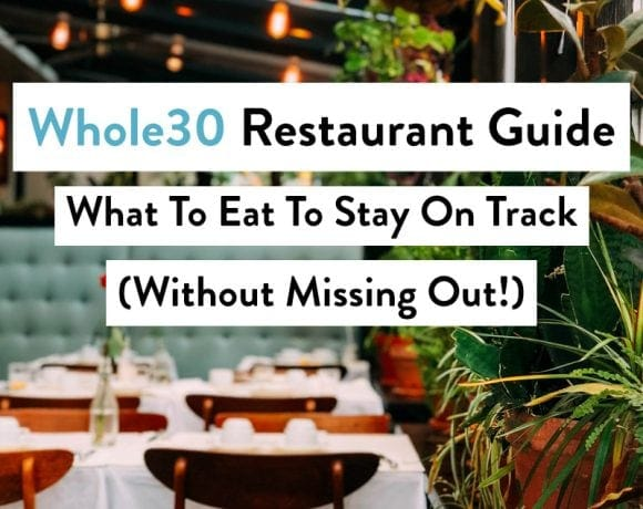 pinterest image of whole30 restaurant guide