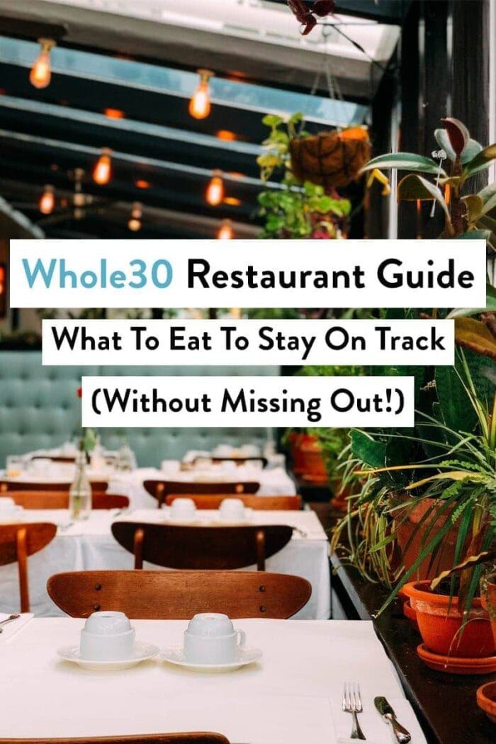 graphic for whole30 restaurant guide