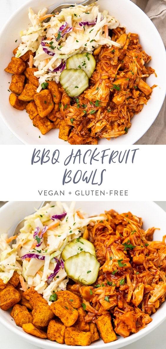 BBQ jackfruit bowls