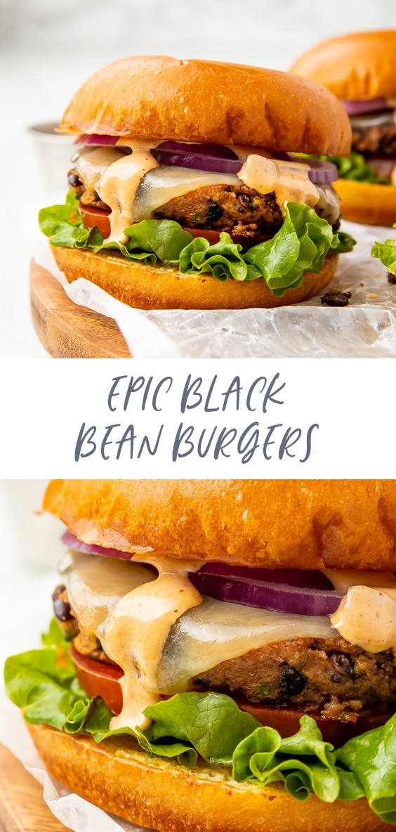 Epic black bean burgers