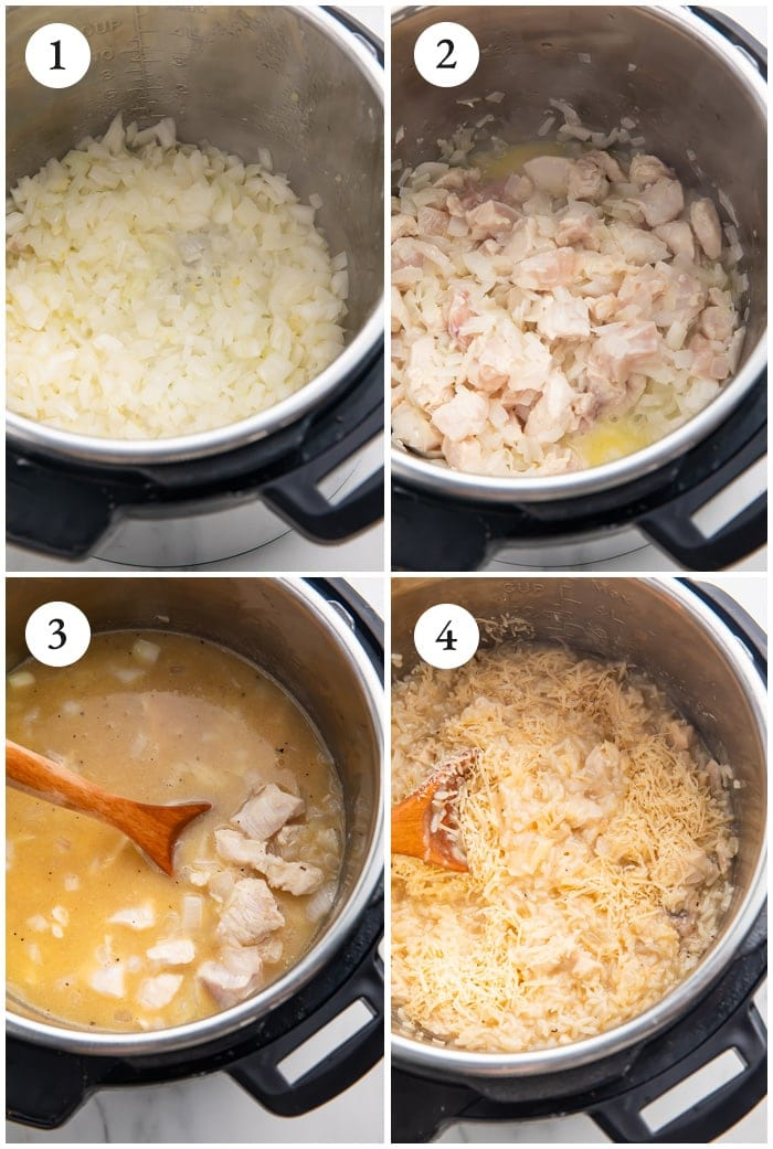 Instructions for instant pot chicken and rice