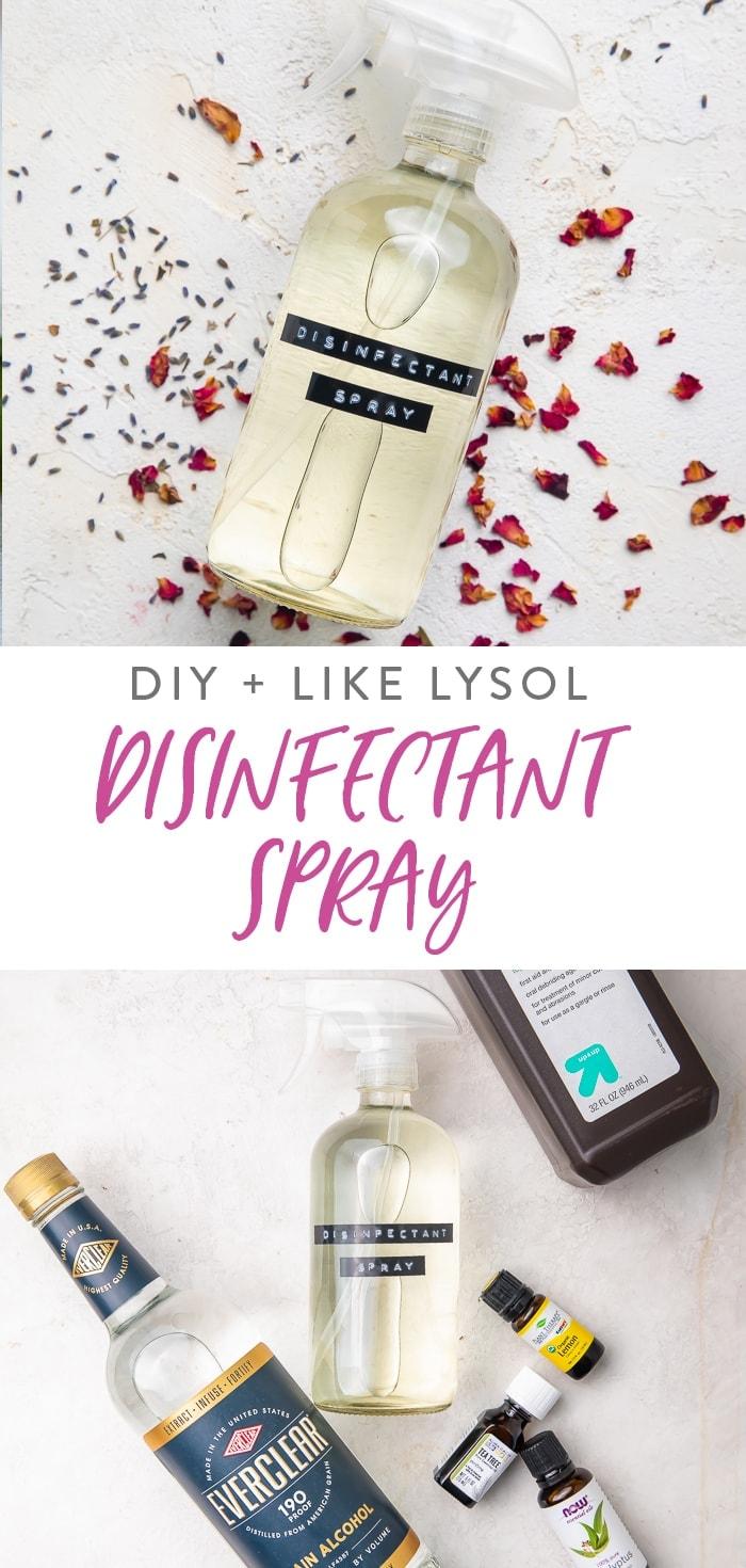 DIY Disinfectant Spray (Like Lysol Spray) Pinterest graphic