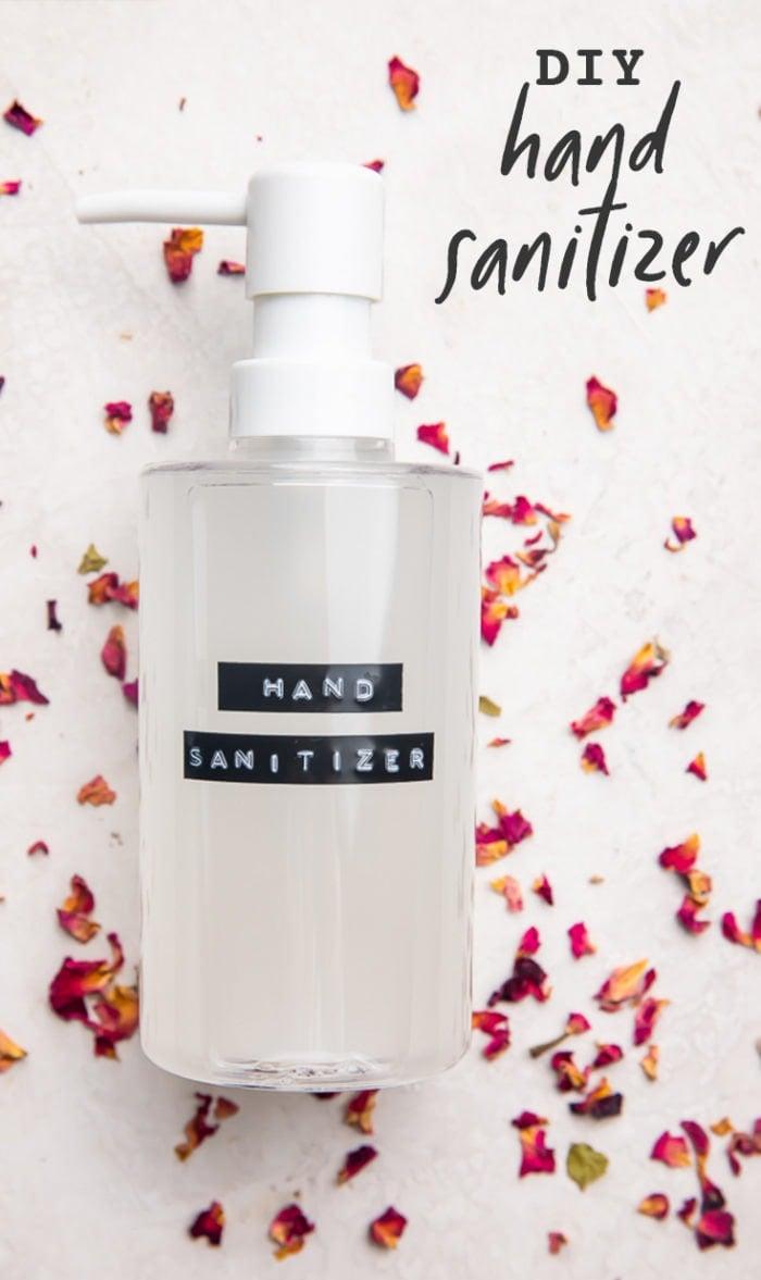 DIY Hand Sanitizer Recipe (with Essential Oils) Pinterest graphic