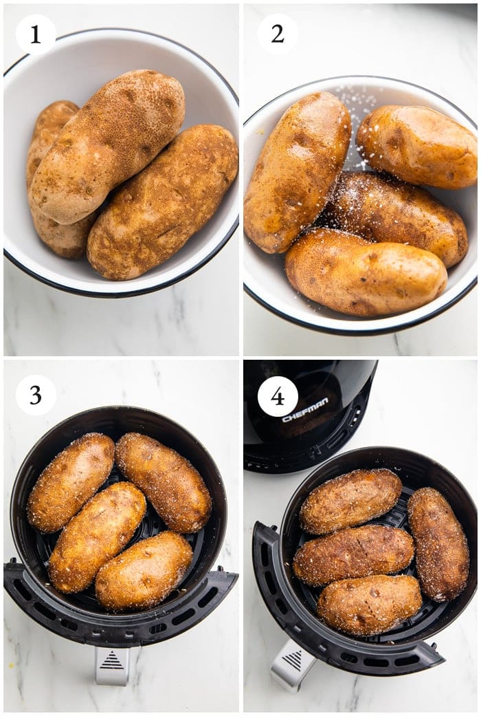 Instructions for air fryer baked poatoes
