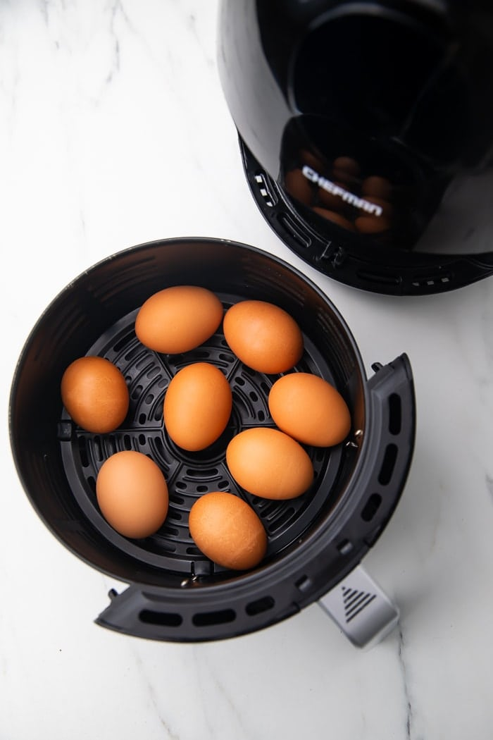 Hard boiled eggs in the air fryer
