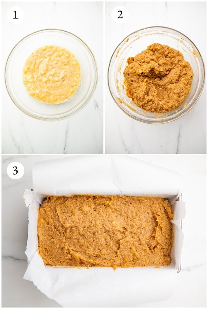 Instructions for almond flour banana bread