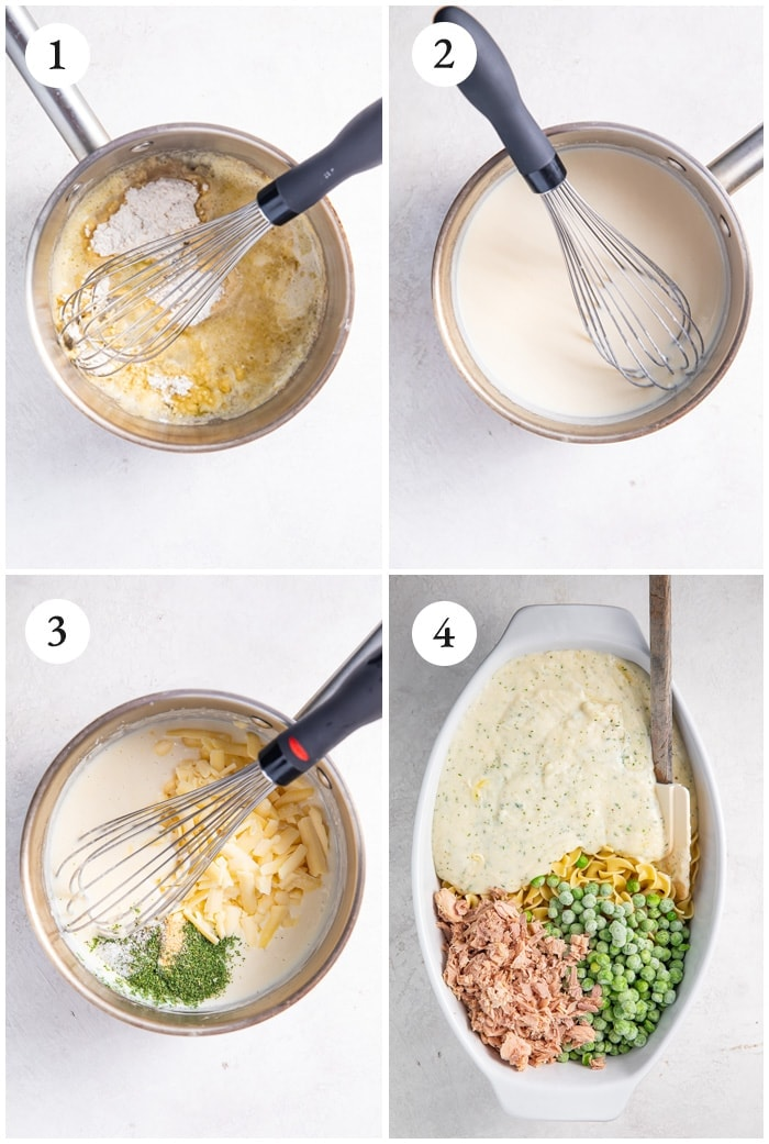 Instructions for the best tuna noodle casserole