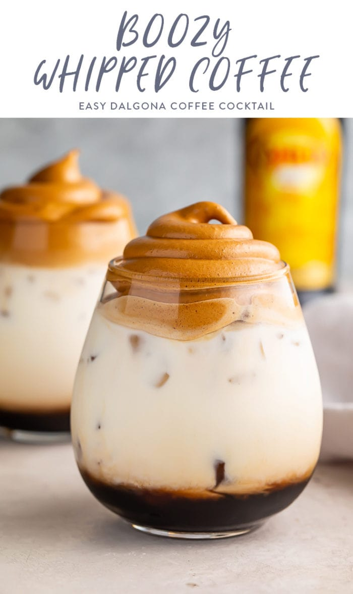 Boozy whipped coffee