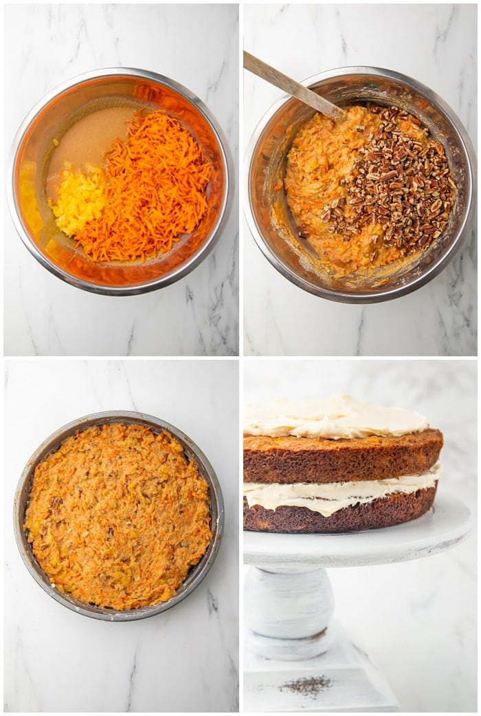 Instructions for paleo carrot cake