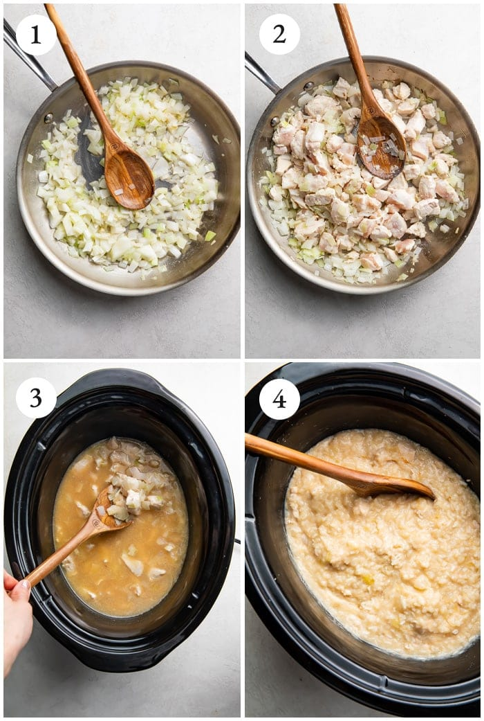 Instructions for Crockpot chicken and rice
