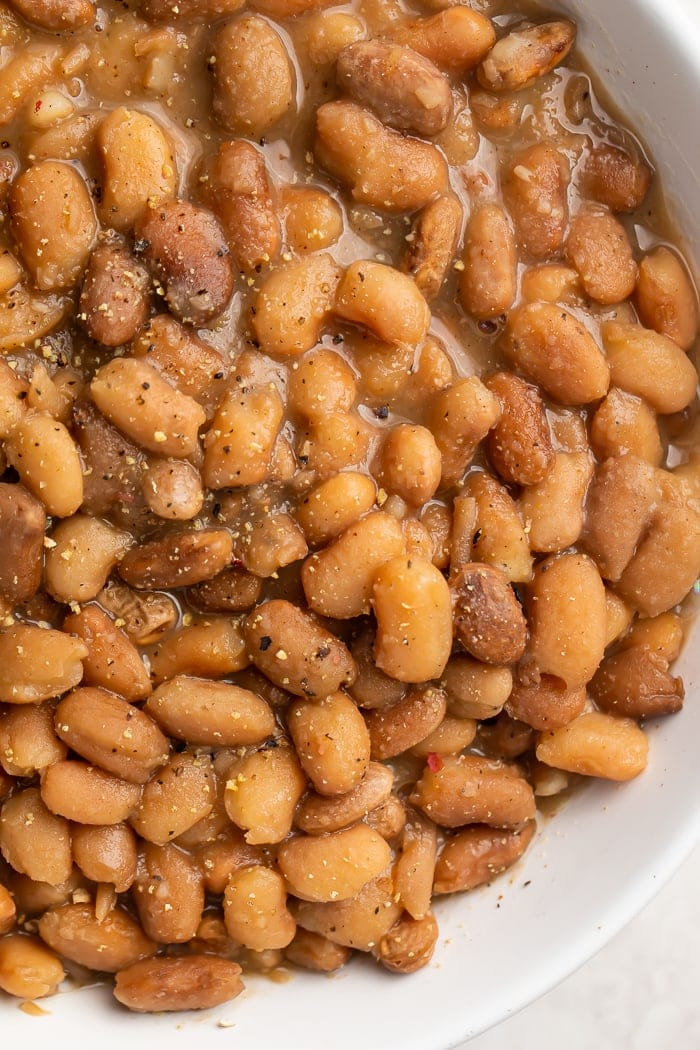 Close-up of pinto beans