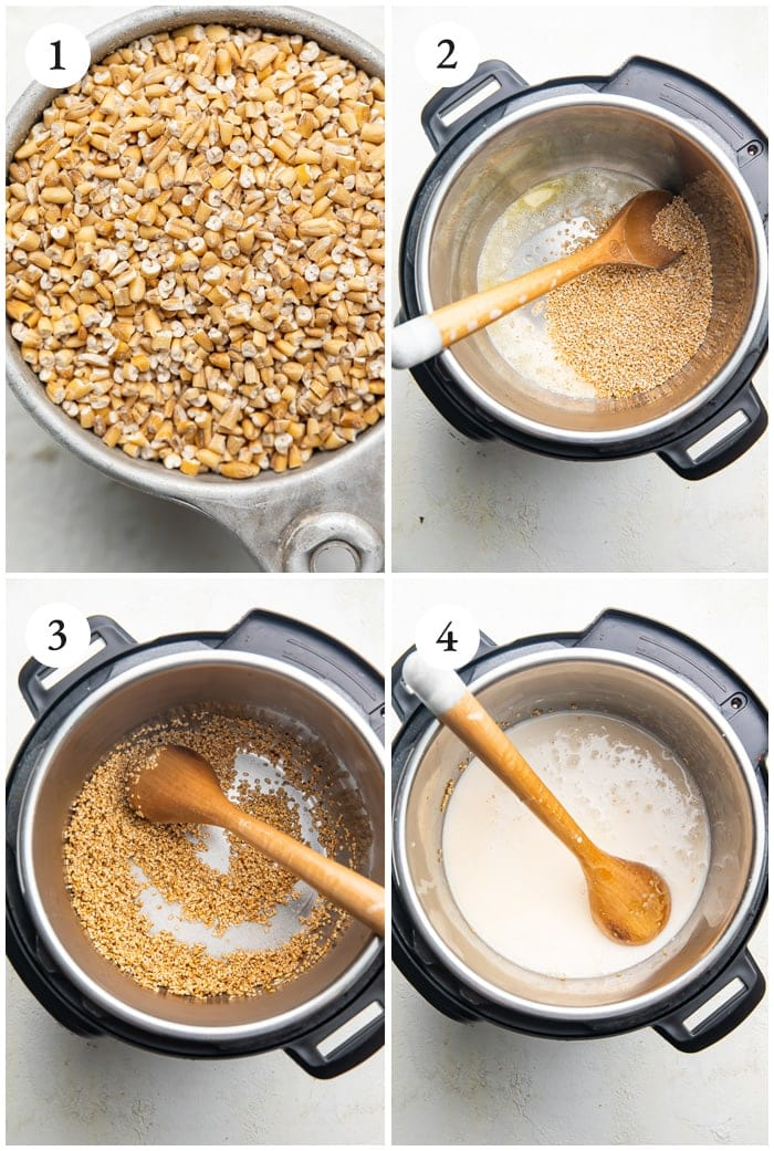 Instructions for Instant Pot steel cut oats