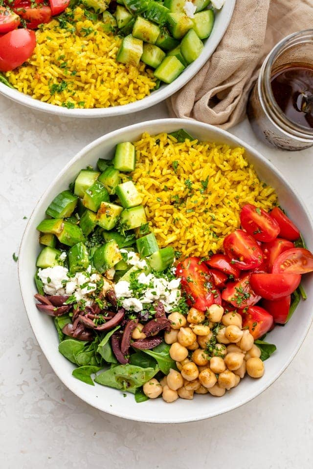 Turmeric rice salad