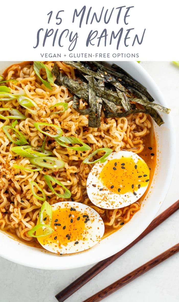 15 minute spicy ramen