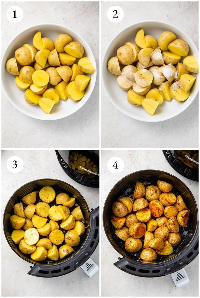 Instructions for air fryer potatoes
