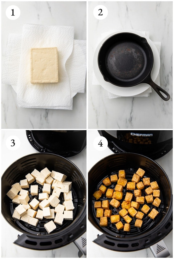 Instructions for air fryer tofu