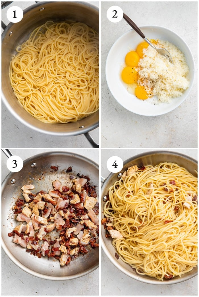 Instructions for chicken carbonara