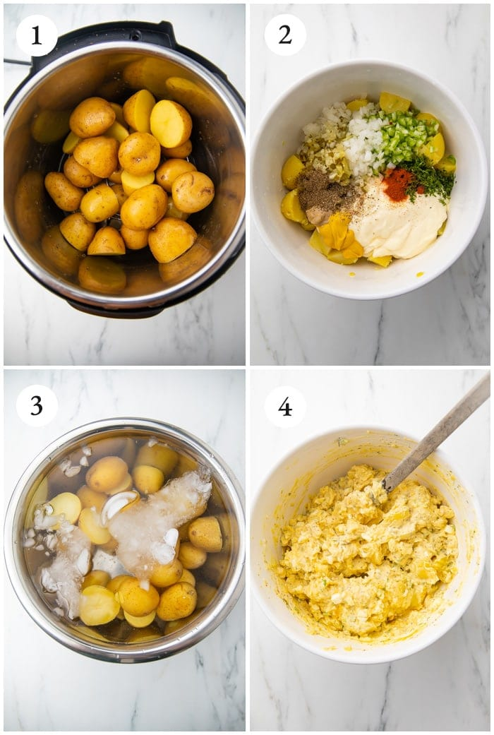 Instructions for Instant Pot potato salad