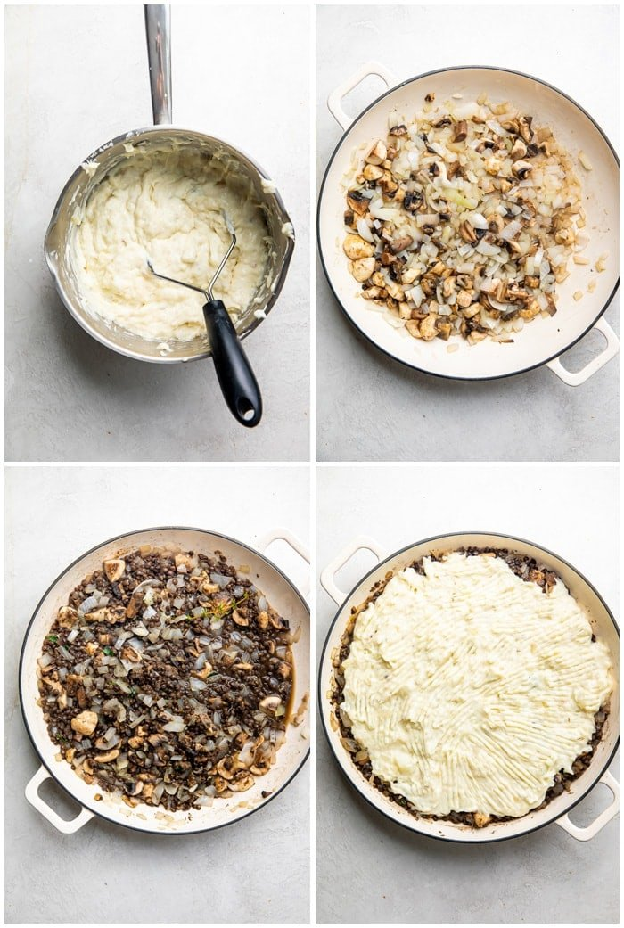 Instructions for vegetarian shepherd's pie