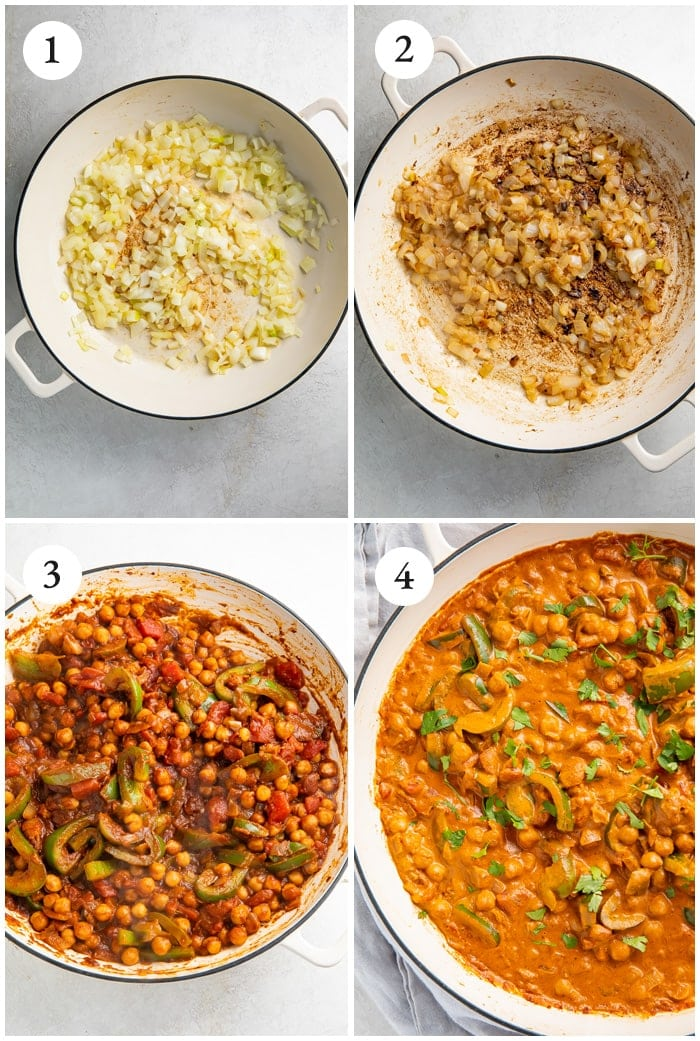 Instructions for vegetarian tikka masala