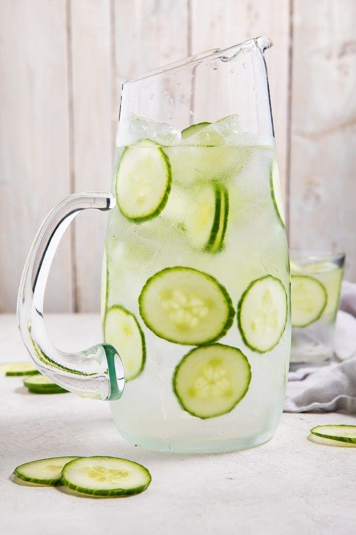 Pitcher with cucumber water
