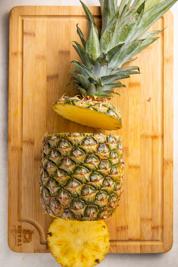 Pineapple with top and bottom removed