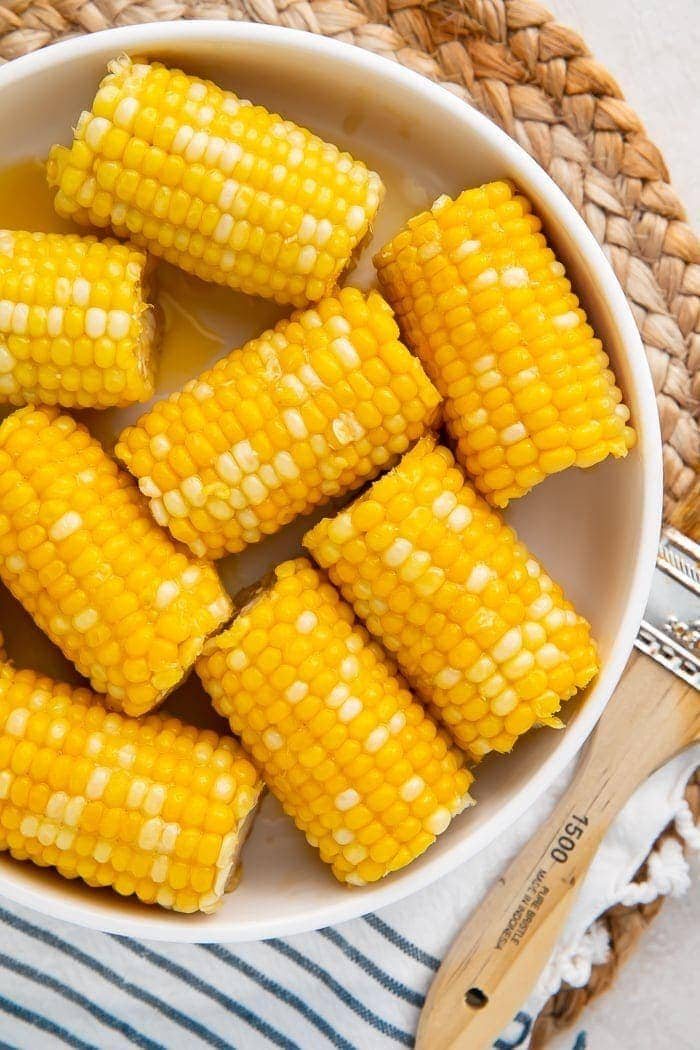 Instant Pot corn on the cob on a plate