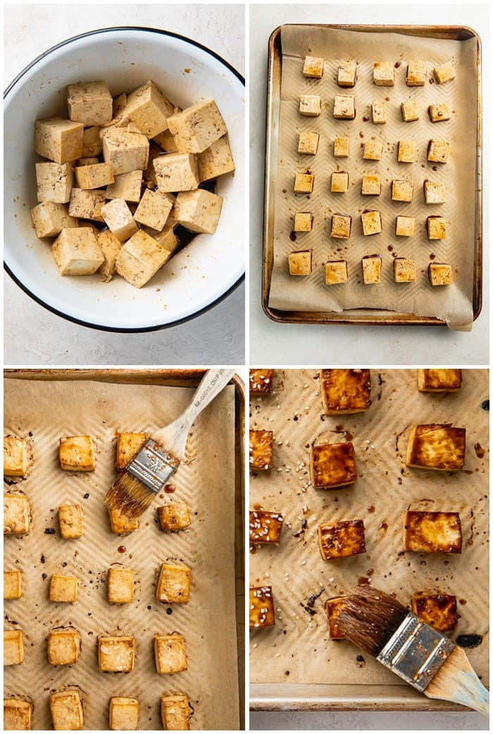 Instructions for baked tofu