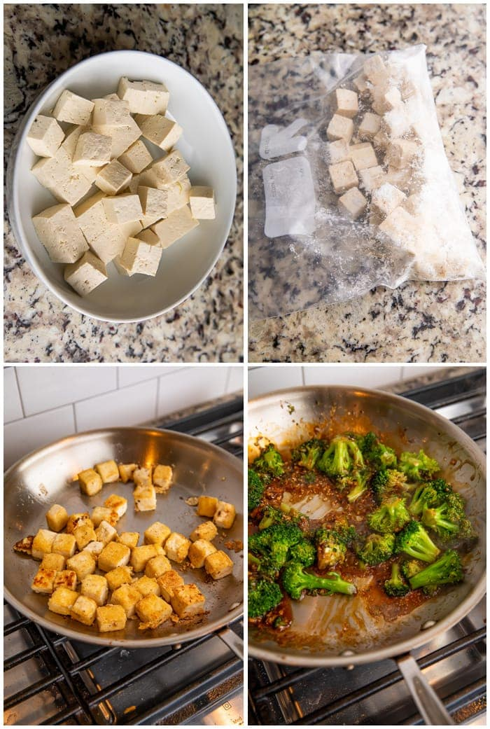 steps to make sautéed tofu and broccoli