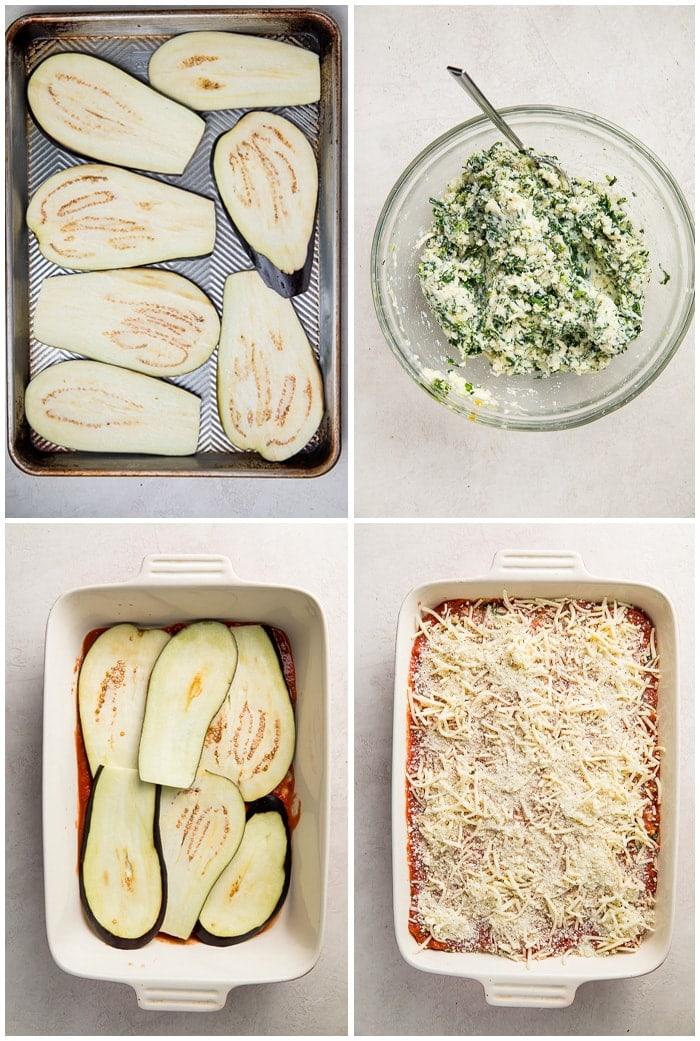 Instructions for eggplant lasagna