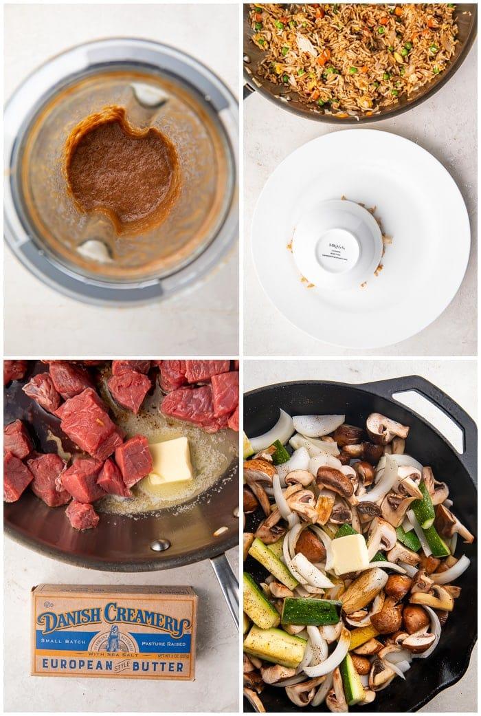 Instructions for hibachi steak