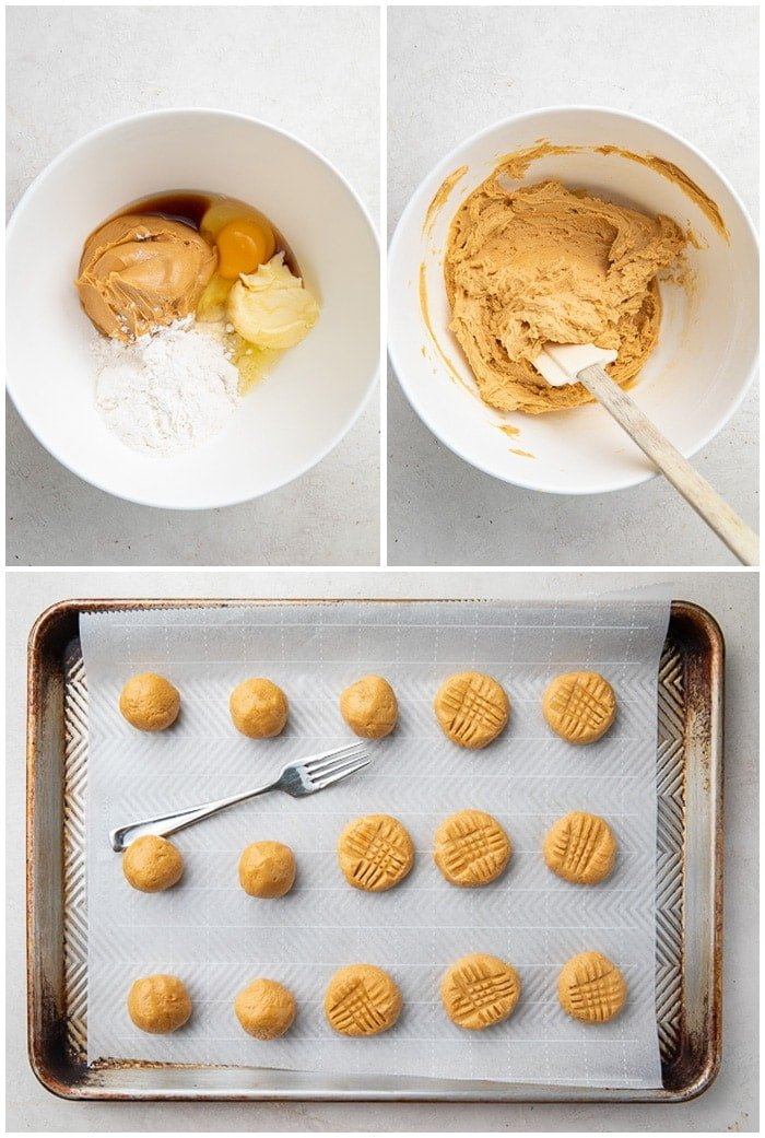 Instructions for soft keto peanut butter cookies