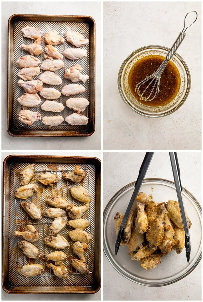 Step-by-step instructions for how to make lemon pepper wings