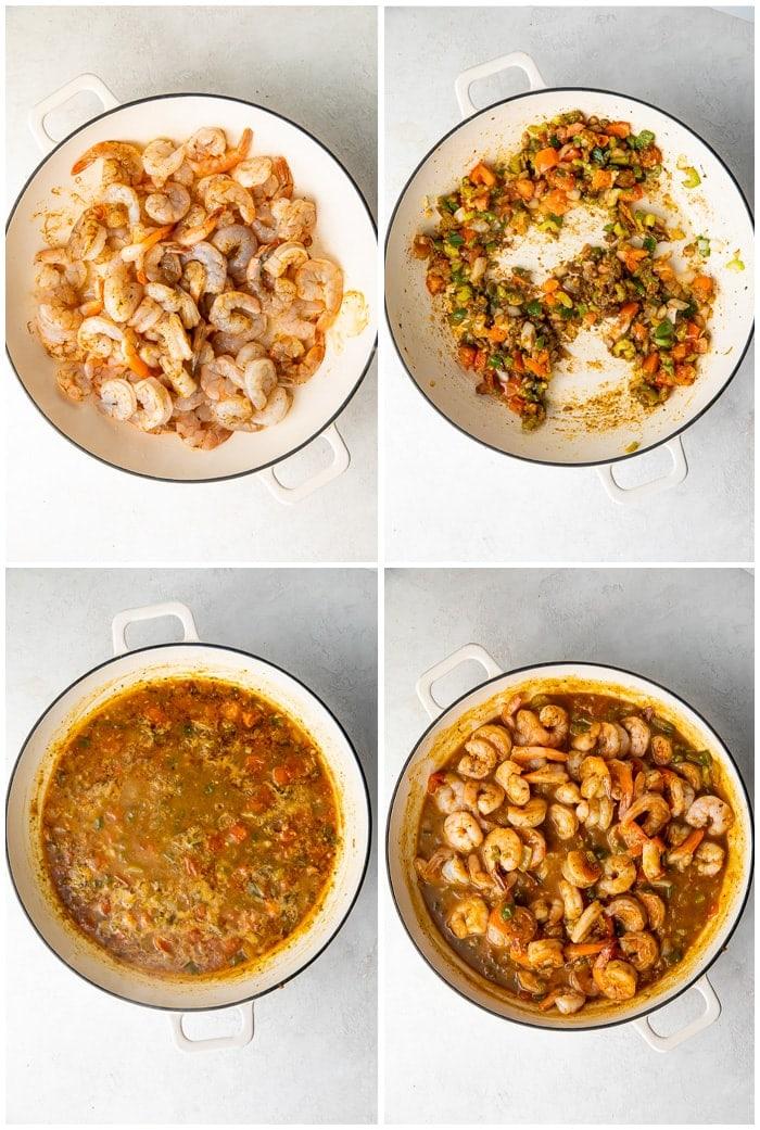 Instructions for shrimp etouffee