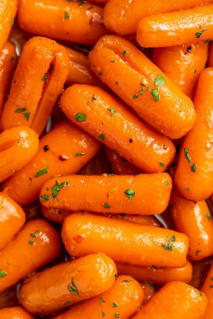Close-up of candied carrots
