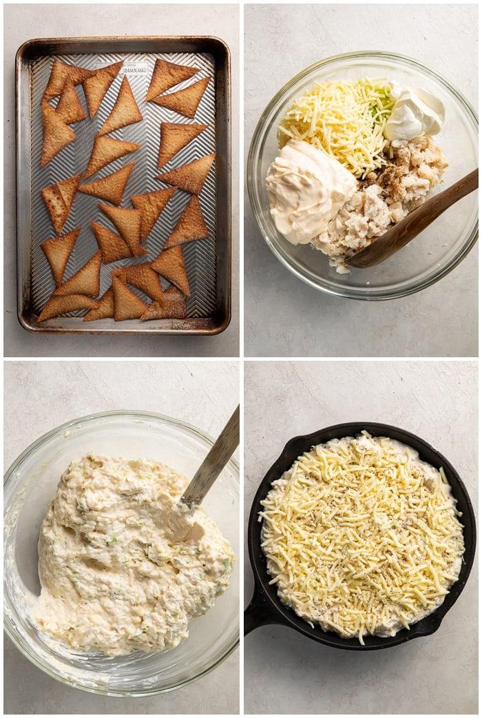 Instructions for crab rangoon dip