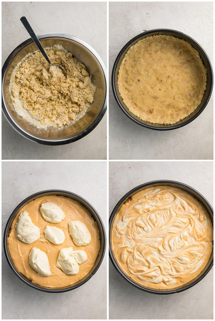 Instructions for keto pumpkin cheesecake