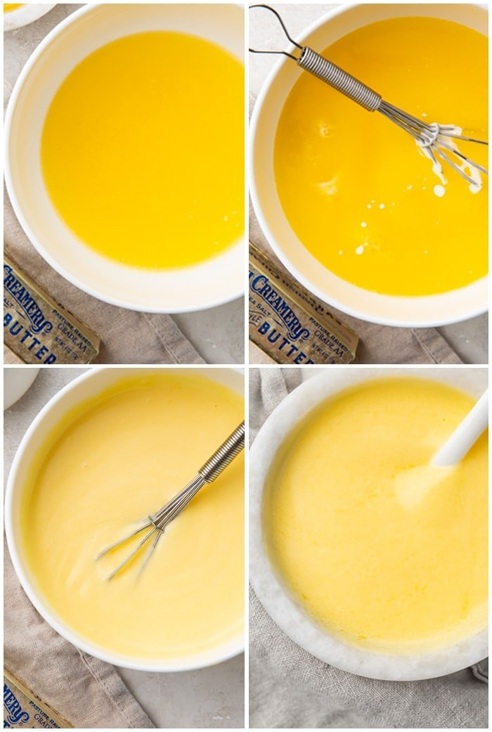 4 step hollandaise sauce process