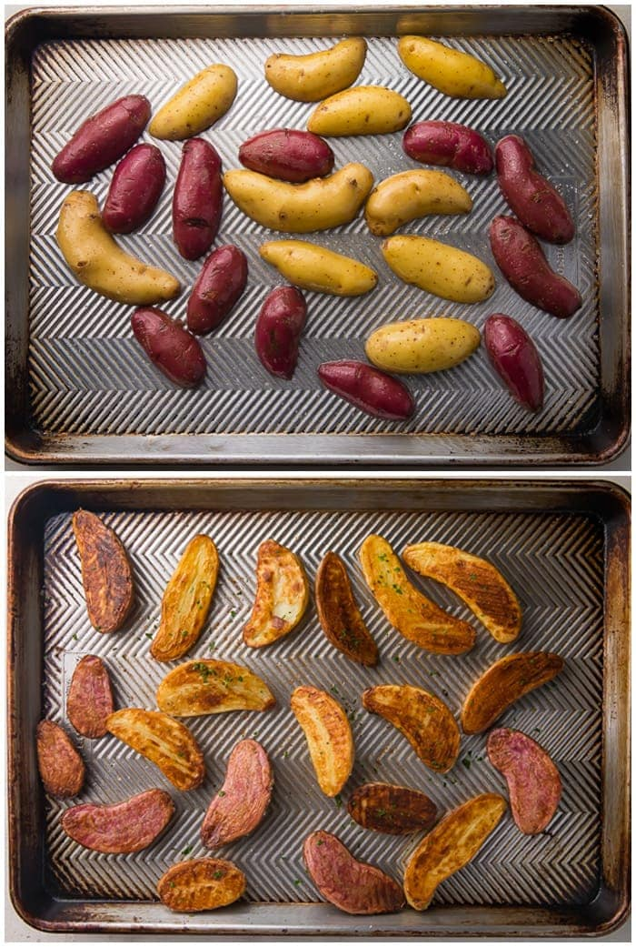 Instructions for roasted fingerling potatoes