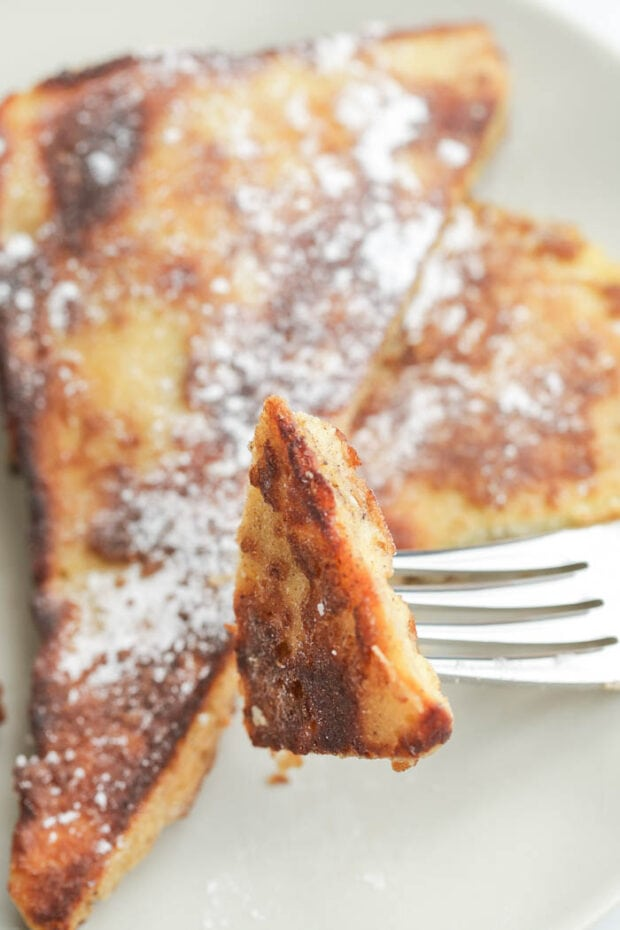 Keto french toast with powdered erythritol