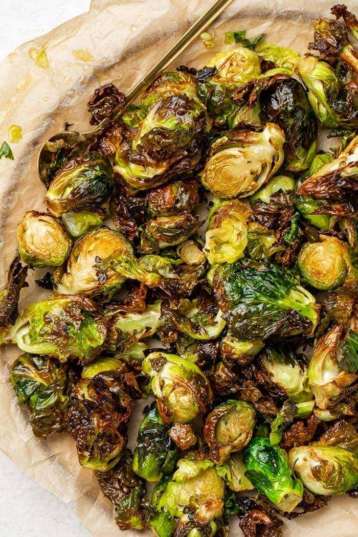 Brussels sprouts from an air fryer