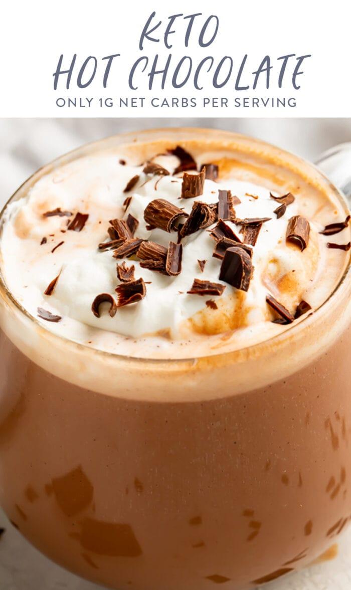 Keto hot chocolate pinterest graphic