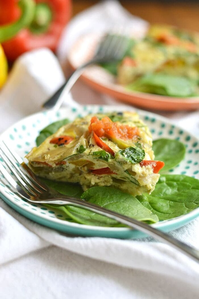 Vegetarian crock pot omelette
