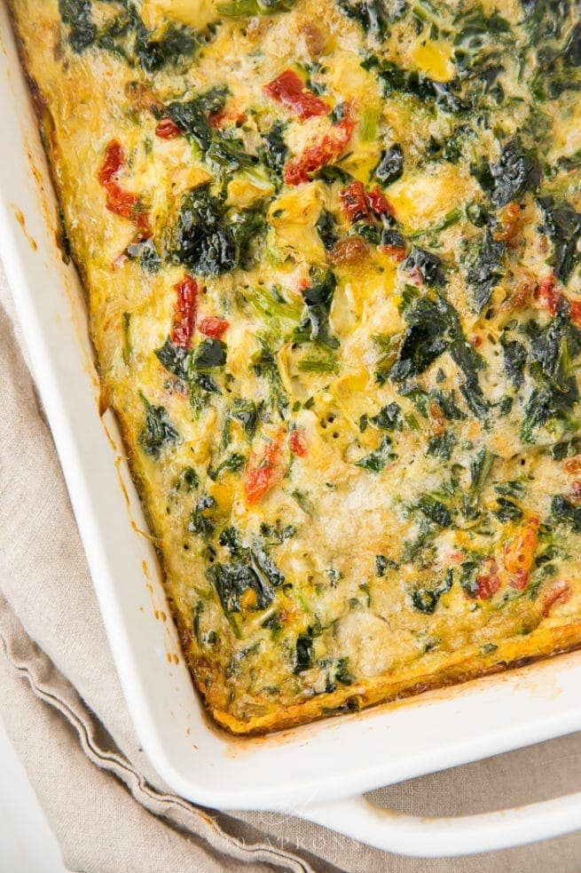 Paleo Italian breakfast casserole in a casserole dish