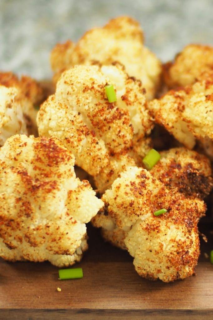 Crispy keto air fryer cauliflower